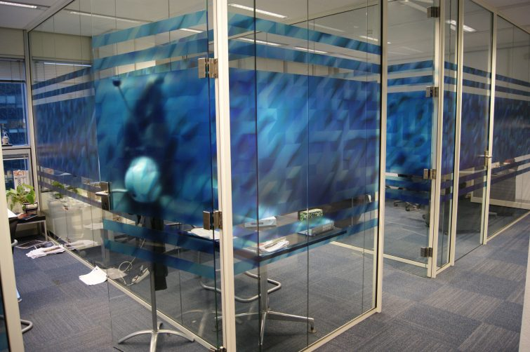 Office Decoration: Printed vinyl glass wall