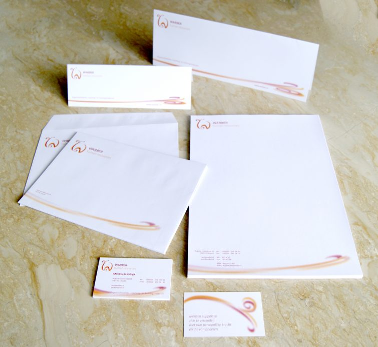 Warber Human Resources House style design and business printing