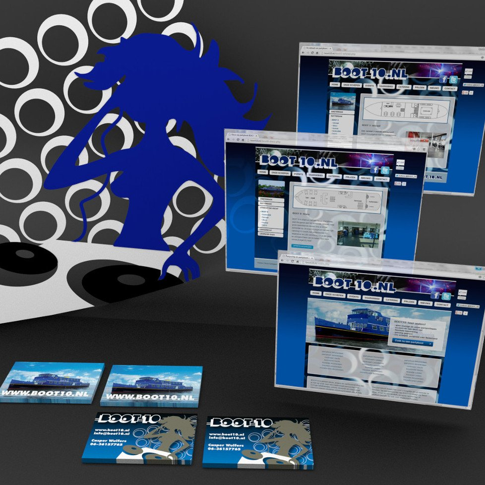 Rederij Boot 10 promotional and web design