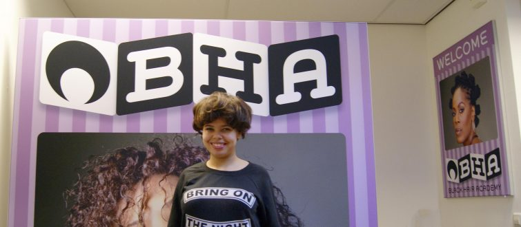 Black Hair Academy: design and production of Fabric walls