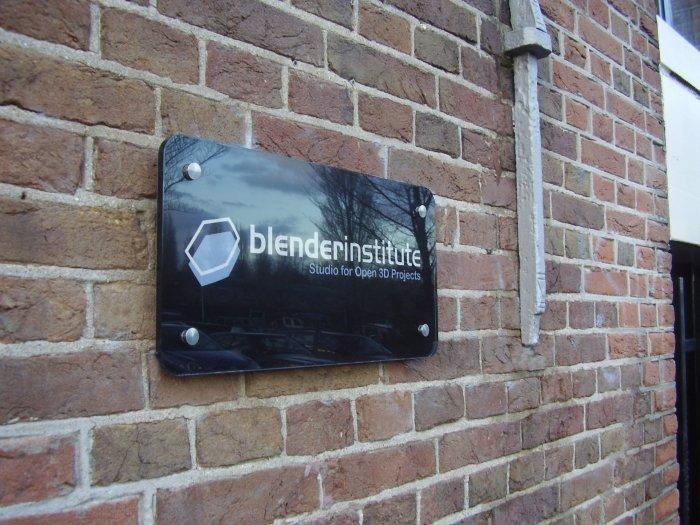 Blender Institute Signage