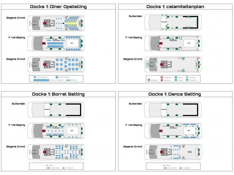 Rederij Docks: Floorplans for sales website and evacuation plans