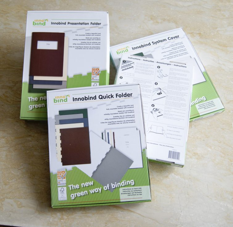 Innobind: packaging consumables and covers