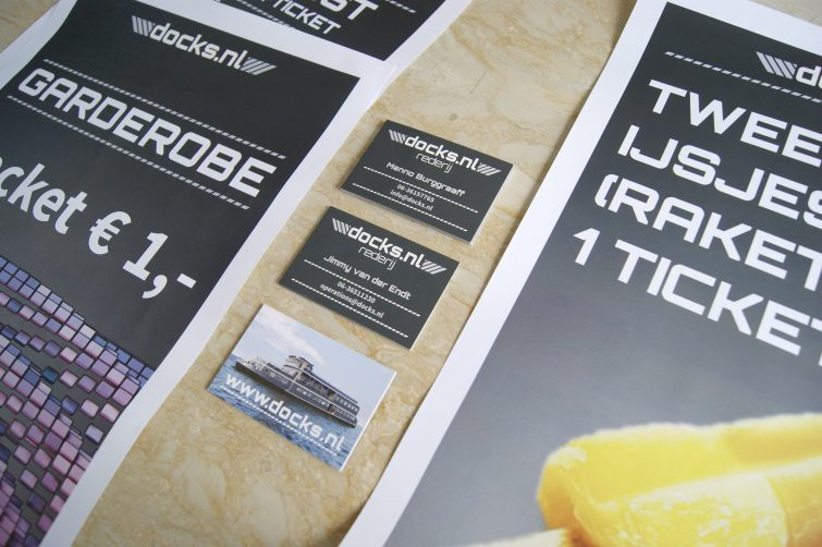 Rederij Docks.nl: House style Design, posters, business cards