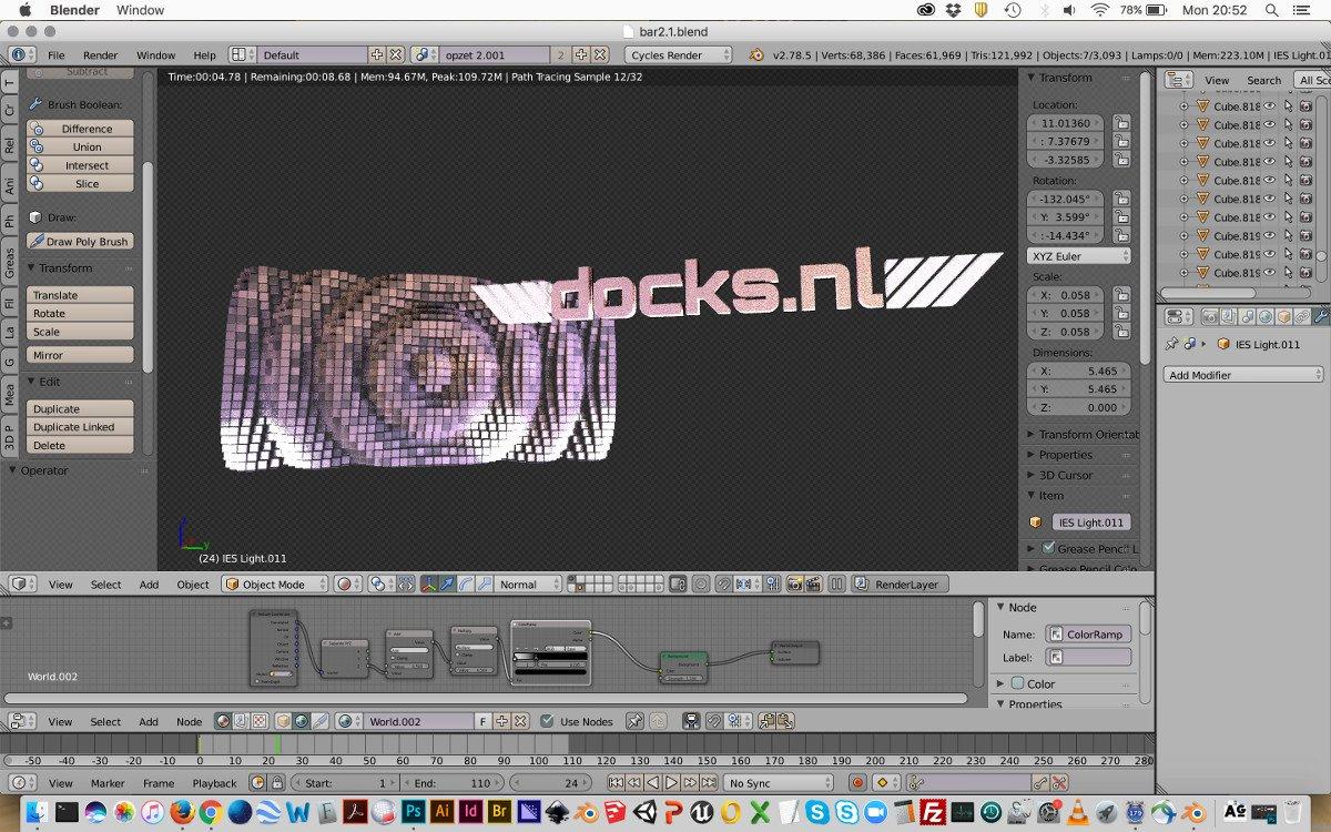 Rederij Docks.nl: 3D key visual creation