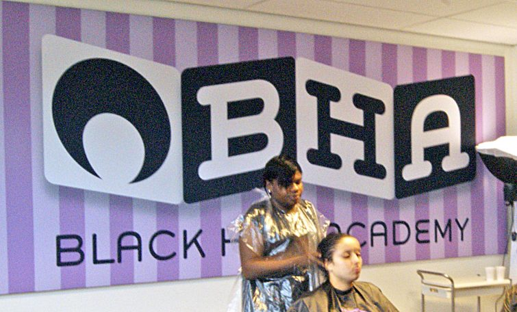 Black Hair Academy Fabric Wall Decoration