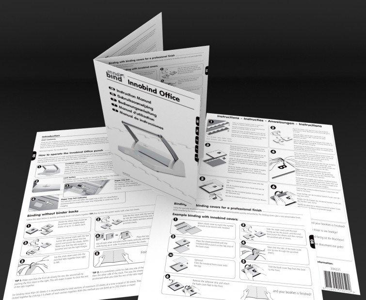 Innobind: Design and illustration Instruction manuals