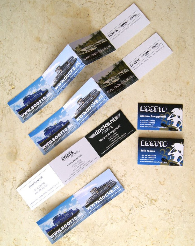 Boot10 Staets Docks Harmonica Business Cards